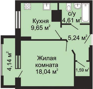 Продаю 1-комнатную. квартиру ул.Композитора Касьянова новостройка - Фото 1
