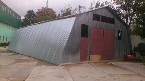 Ангар металлический 170 кв.м. в г. Балашиха на огороженной территории - Фото 1