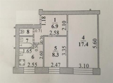 Улица Космонавтов 13/2; 2-комнатная квартира стоимостью 1550000р. . - Фото 2