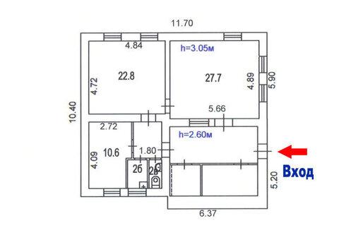 Здание кирпичное 92 кв.м. у метро Авиамоторная, 1 этаж, 2 линия - Фото 4
