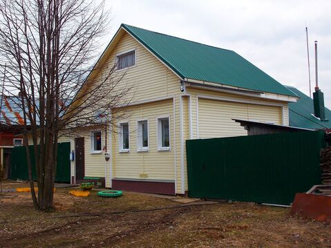 Новый бревенчатый дом с газом и баней в пос. Лежнево - Фото 1