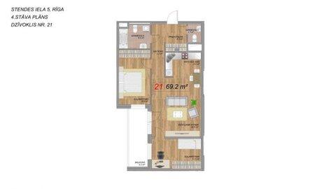 7 668 674 руб., Продажа квартиры, Купить квартиру Рига, Латвия по недорогой цене, ID объекта - 313139221 - Фото 1