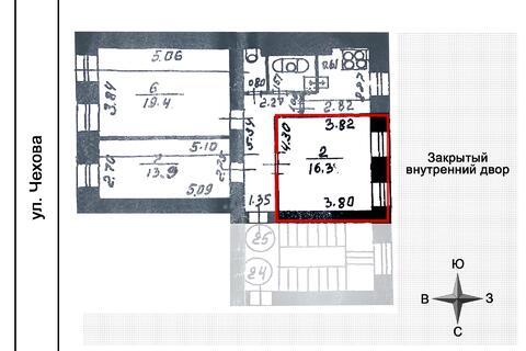 Пп комната в историческом центре Петербурга 16,3 кв.м. парк метро