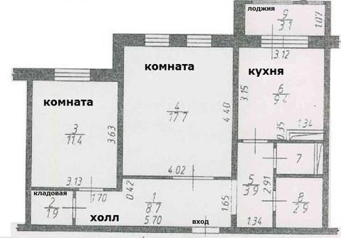2 к.кв. г. Подольск, ул. Академика Доллежаля, д. 33 - Фото 4