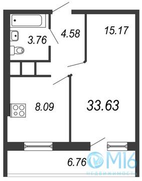 Продажа 1-комнатной квартиры, 33.63 м2, Московское ш, д. 13 - Фото 2