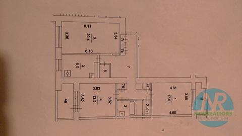 Продается 3 комнатная квартира на улице Пырьева - Фото 3