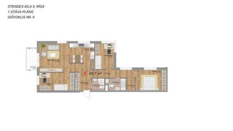 129 000 €, Продажа квартиры, Купить квартиру Рига, Латвия по недорогой цене, ID объекта - 313139167 - Фото 1