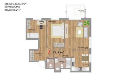 115 000 €, Продажа квартиры, Купить квартиру Рига, Латвия по недорогой цене, ID объекта - 313139203 - Фото 1