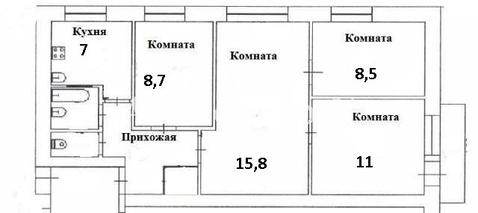 Владимир, Комиссарова ул, д.17, 4-комнатная квартира на продажу - Фото 1