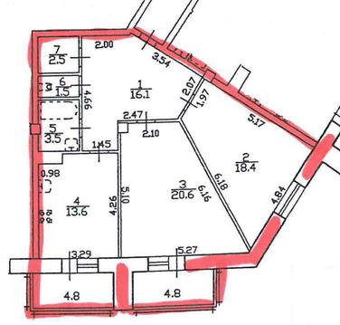 Двухкомнатная квартира в новом доме на Коломяжском проспекте - Фото 2