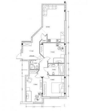 129 000 €, Продажа квартиры, Купить квартиру Рига, Латвия по недорогой цене, ID объекта - 313136552 - Фото 1