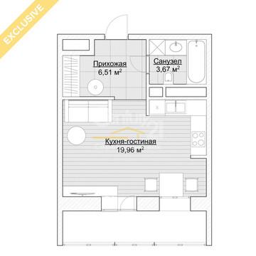 Продажа 1-комнатной квартиры ул. 6-я Радиальная, д.7, корп.35в, секция . - Фото 5