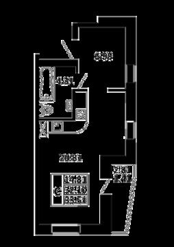 Квартира-студия 33,51 кв. м. в ЖК Никольский посад