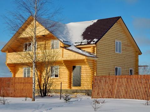 Продается новый дом 200 кв.м. из оцилиндрованного бревна в деревне! - Фото 1
