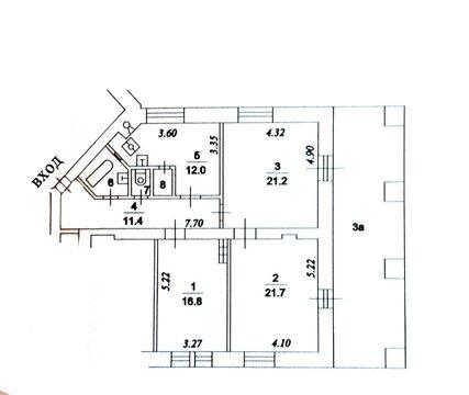 3х комнатная квартира на Ленинградском пр-те 28 - Фото 4