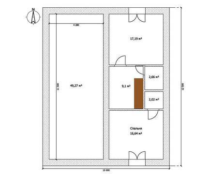 Дом 100 м2 на участке 3,2 сот. пос. Западный-2 - Фото 3