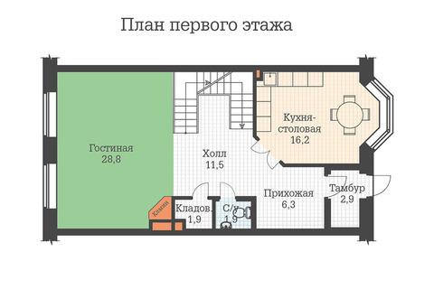 5-комн. квартира 289.4 м2 в таунхаусе, м.Озерки - Фото 5