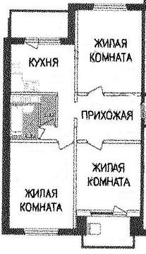 3 к.кв. г. Подольск, ул. Академическая, д. 8 - Фото 2