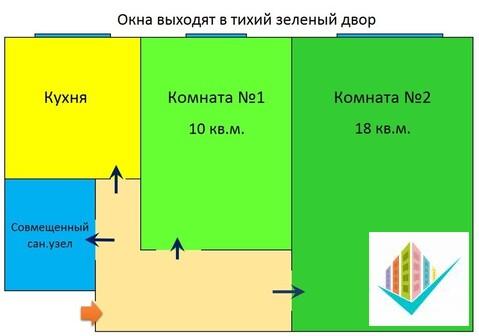 2-комнатная с изолированными комнатами - Фото 3