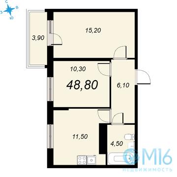 Продажа 2-комнатной квартиры, 48.8 м2, Обручевых ул, д. 5а - Фото 2