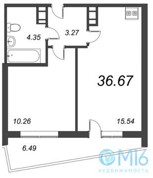 Продажа 1-комнатной квартиры, 36.67 м2 - Фото 2