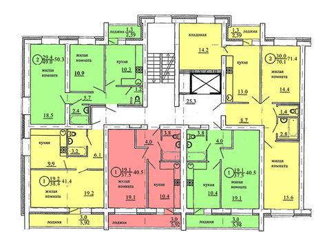 Продажа 2-комнатной квартиры, 49.3 м2, Березниковский переулок, д. 34 - Фото 1