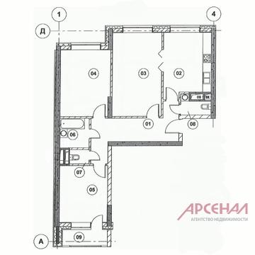 Корпус 1(вгк), кв.12.3-х комн.кв-ра - Фото 4