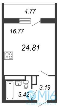 Продажа квартиры-студии, 24.81 м2 - Фото 3