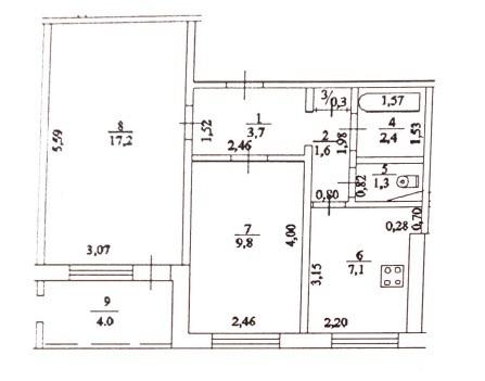 Продажа 2-комн. квартиры, 47.4 м2, этаж 1 из 9 - Фото 3