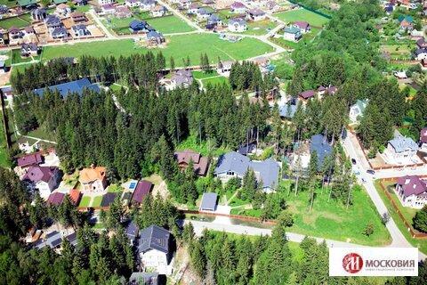 Участок 12,8 соток в поселке, окруженном хвойным лесом, Киевское ш. - Фото 2