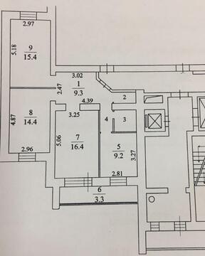 3-х комнатная квартира ул. Лунная, д. 9к1 - Фото 1