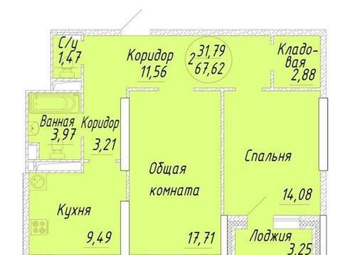 2-комн квартира Курзенкова - Фото 2