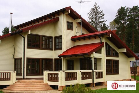 Роскошный деревянный дом в сосновом бору рядом с Подольском - Фото 1