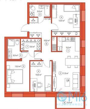 Продажа 3-комнатной квартиры, 81.41 м2 - Фото 3