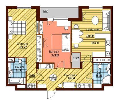 Продажа квартиры, п. Сосенское, дер. Сосенки, ул. Ясеневая - Фото 3