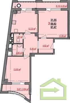 Двухкомнатная квартира в ЖК Гостёнский - Фото 2