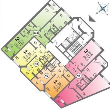 Продается 1-ая квартира с ремонтом, 55-й мкр-н, ЖК «Борисоглебский», М - Фото 4