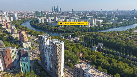 2 комн. кв. (студия) с видом на Карамышевскую набережную - Фото 2
