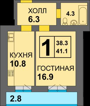 1-комнатная квартира в готовом доме - Фото 2