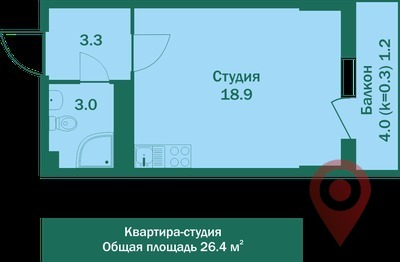 Объявление №42955490: Квартира 1 комн. Шушары, Новгородский пр-кт., 2,