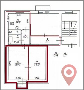 Объявление №44240063: Продаю комнату в 3 комнатной квартире. Песочный, ул. Ленинградская, 42,