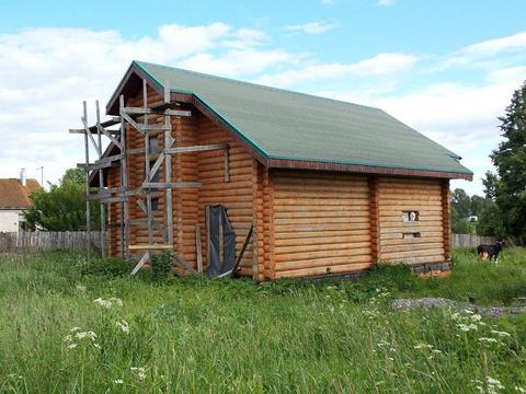 Новый двухэтажный рубленый бревенчатый дом в д. Василёво - Фото 1