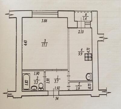 1-комнатная квартира по адресу: ул. Кремлевская д. 76 - Фото 1