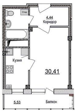 1к квартира с ремонтом под ключ! - Фото 3