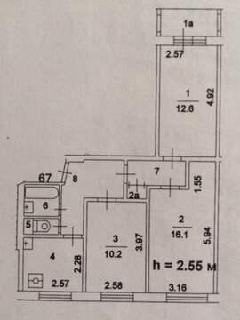 Продается комната 16 кв.м в 3-ой квартире по ул. Бирюлевская 11к1 - Фото 1