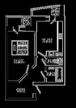 1-комнатная квартира 53,54 кв. м. в ЖК Никольский посад