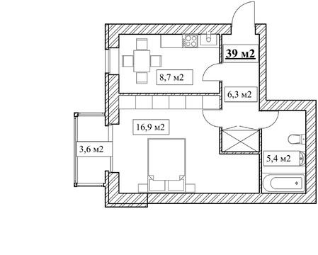 Продам 1-комнатную квартиру, 39м2, ЖК Прованс, фрунзенский р-н - Фото 4