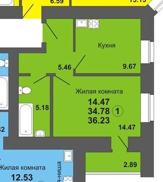 Продажа 1-комнатной квартиры, 36.23 м2, г Киров, Октябрьский проспект, . - Фото 1