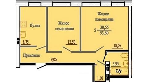 Продам 2-х комнатную в м-не Просторный - Фото 1