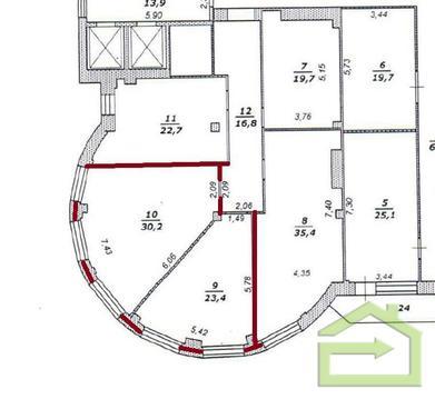 Офис 54 кв.м. в дц Империал - Фото 2